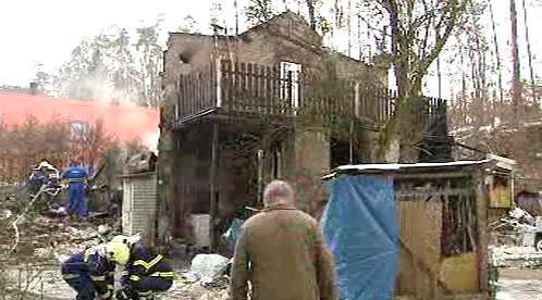 Výbuch v Zahořanech u Prahy