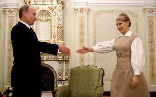 Vladimir Putin a Julija Tymošenková