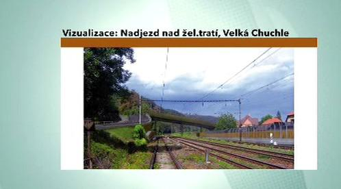 Plánovaný nadjezd na železniční tratí