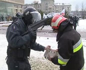 Zásah proti demonstrantům