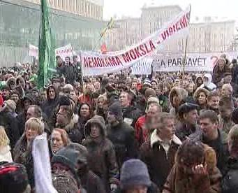 Demonstrace ve Vilniusu