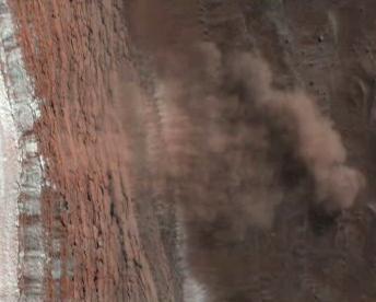 Ledová lavina na Marsu