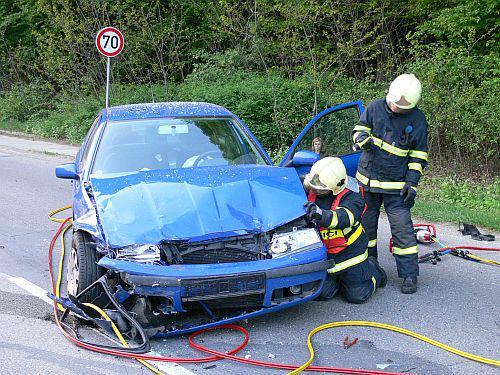 Škoda Octavia po nehodě