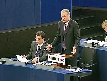 Alexandr Vondra a Mirek Topolánek