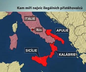 Nelegální imigrace v Itálii