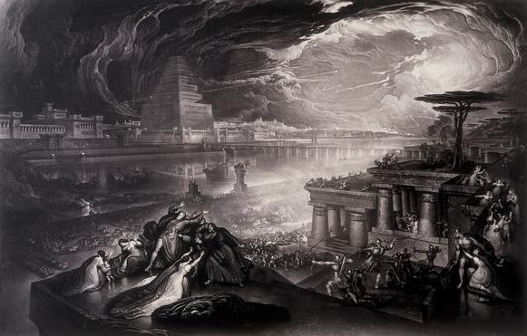 John Martin: Pád Babylonu