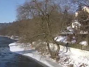 Trasa plánované cyklostezky podél Ohře