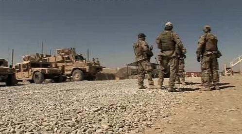 Čeští vojáci na základně Shank
