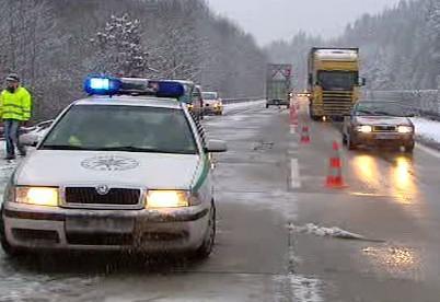 Policie na dálnici