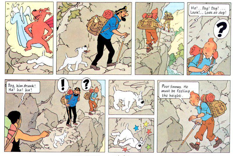 Komiks o Tintinových dobrodružstvích