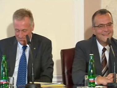 Mirek Topolánek a Miroslav Kalousek