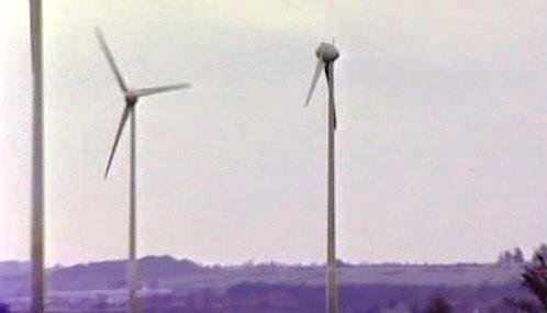 Turbínu větrné elektrárny údajně poškodilo UFO
