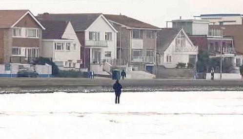 Zamrzlé moře na jihu Anglie