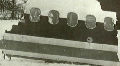 Trosky zříceného jugoslávského letadla