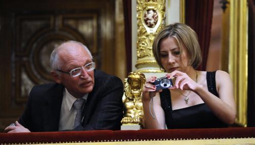 Günter Verheugen a Kateřina Jacques