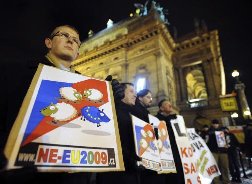 Protest iniciativy NE-EU2009.cz