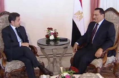 Nicolas Sarkozy a Husní Mubarak