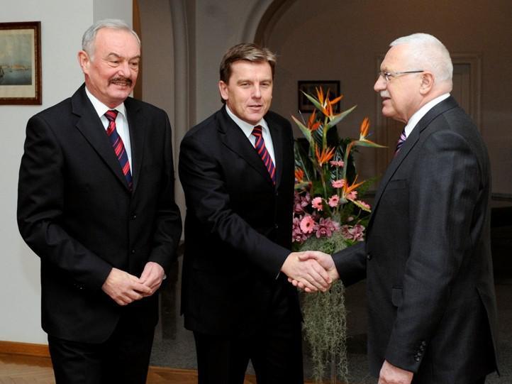 Klaus s Vlčkem a Sobotkou