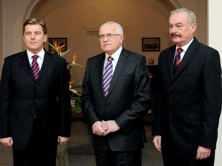 Setkání Klause s předsedy