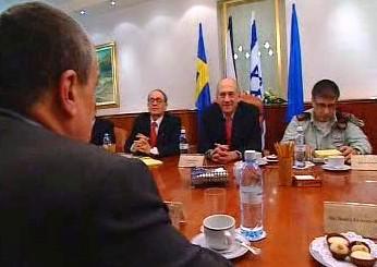 Karel Schwarzenberg a Ehud Olmert