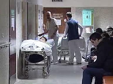 Příjem v karlovarské nemocnici