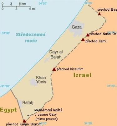 Mapa pásma Gazy