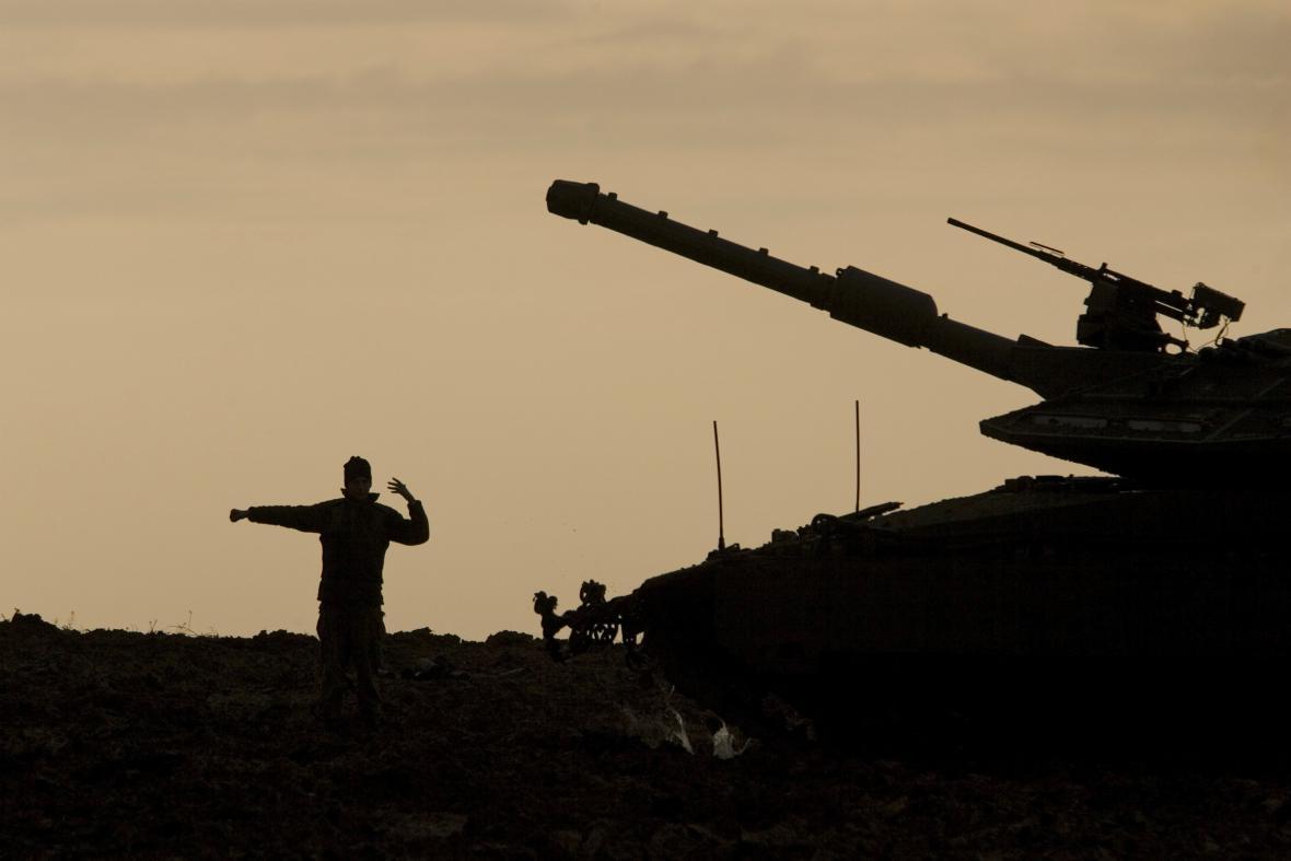 Ráno na hranicích Izraele s Gazou