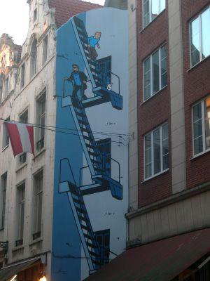 Komiks na fasádách domů
