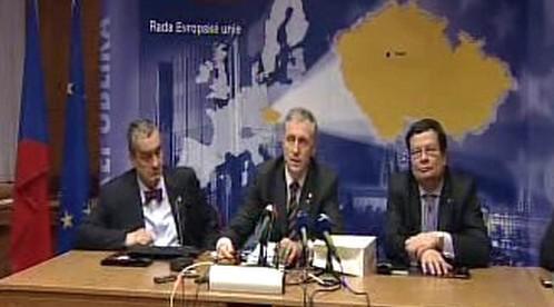 Karel Schwarzenberg, Mirek Topolánek a Alexandr Vondra