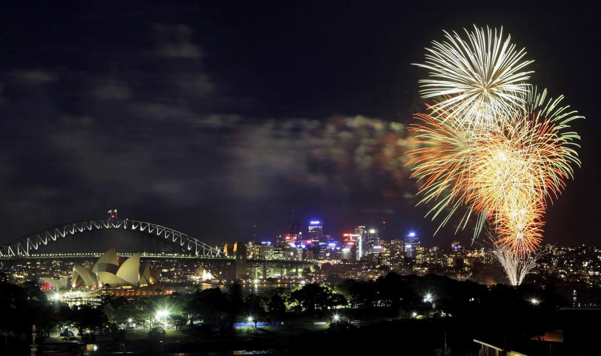 Letošní oslavy Nového roku v Austrálii