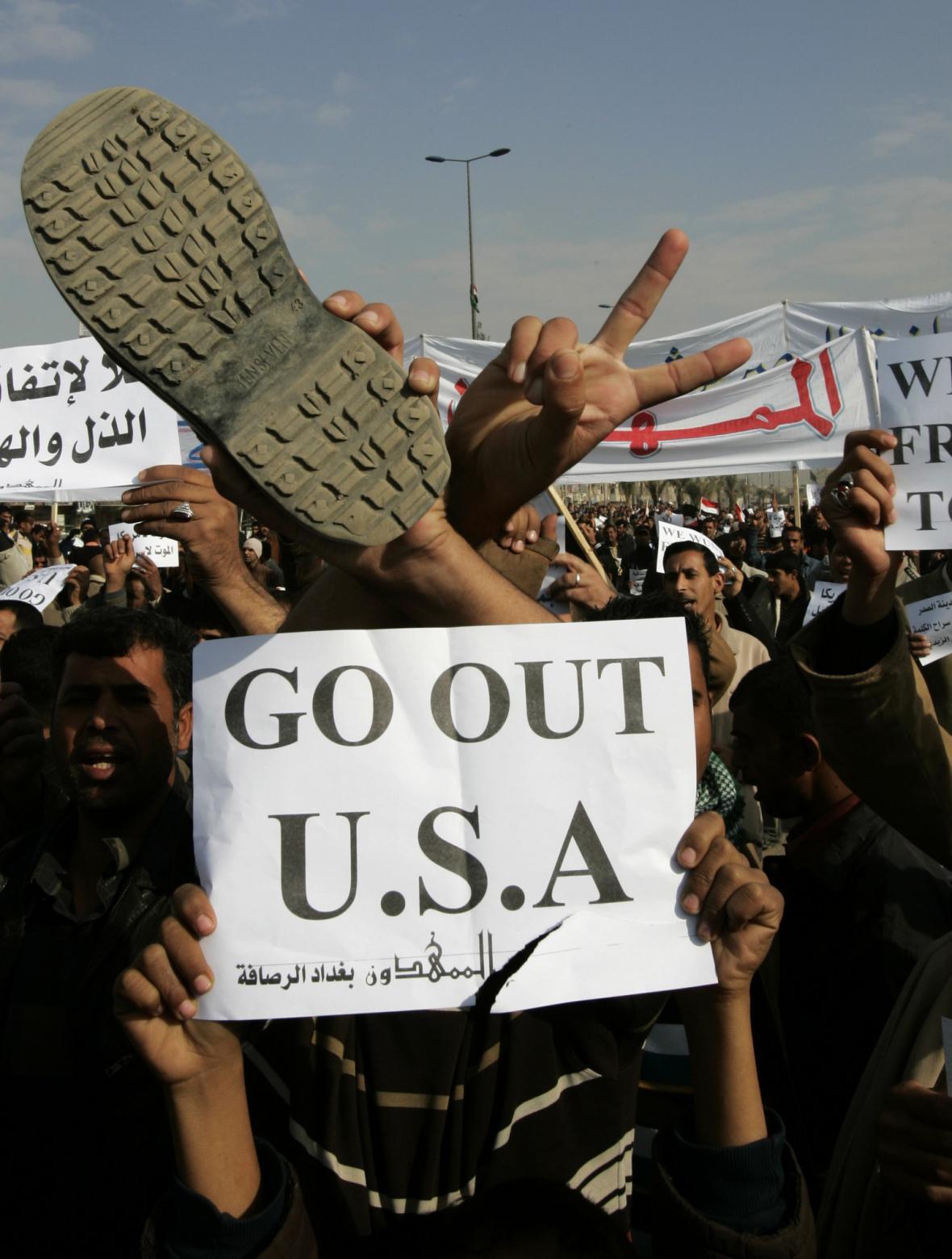 Irácký protest proti americké intervenci