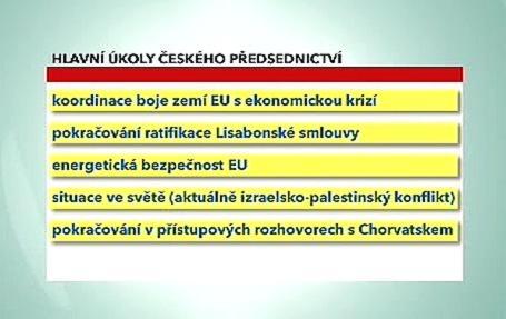 Významné úkoly při českém předsednictví