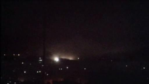 Noční bombardování v pásmu Gazy