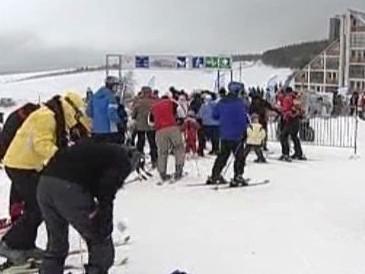 Fronta na lyžařský vlek