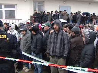 Policejní zásah na tržnici v Libuši