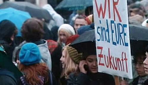 Protest německých školáků