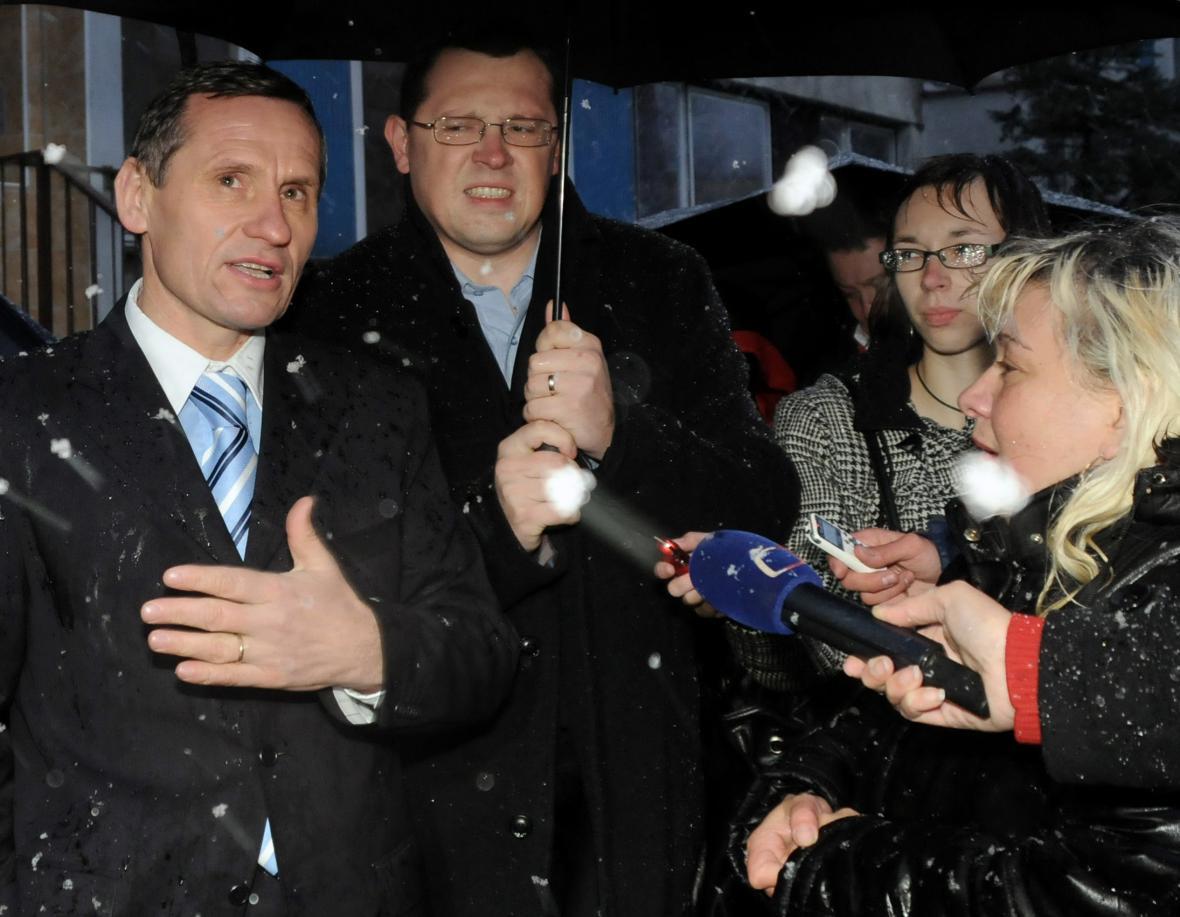 Ministr Čunek na litvínovském sídlišti