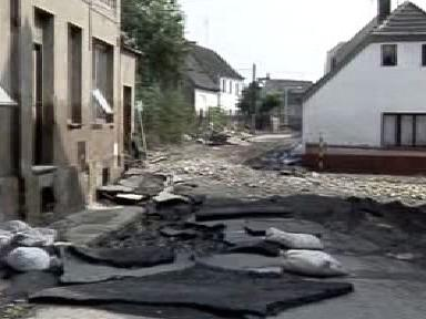 Píšťany po povodni v roce 2002