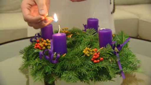 Zapalování adventních svící
