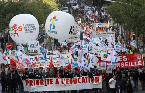 Demonstrace francouzských školáků