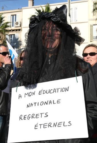 Demonstrace francouzských učitelů