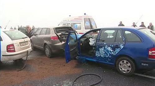 Hromadná havárie u Olomouce