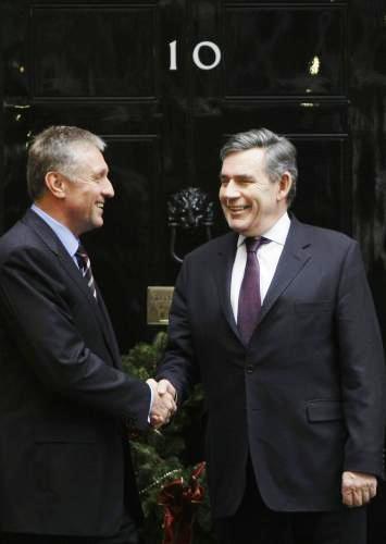 Mirek Topolánek a Gordon Brown