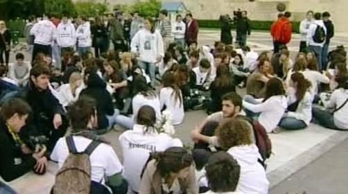Tichý protest v Řecku