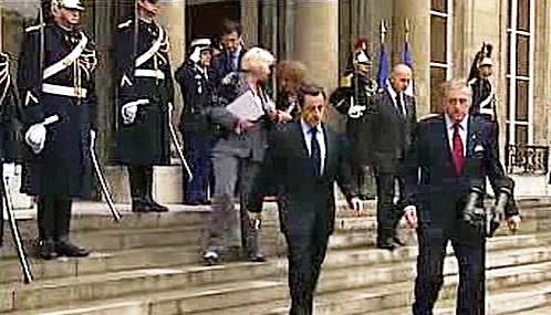 Nicolas Sarkozy a Mirek Topolánek