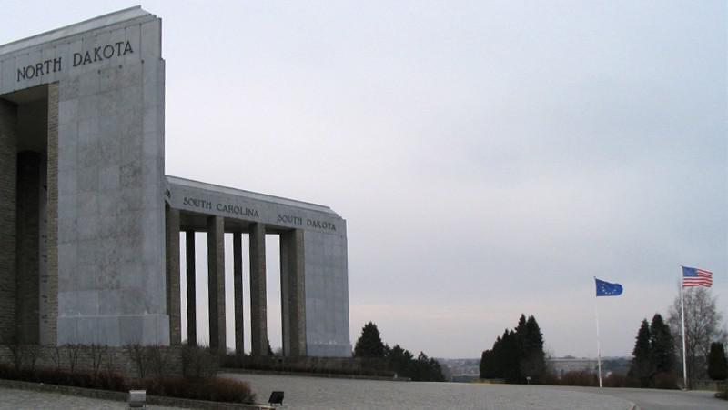 Památník v městečku Bastogne