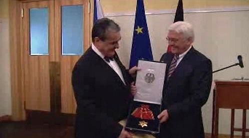 Karel Schwarzenberg a Frank Walter Steinmeier
