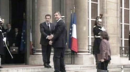 Nicolas Sarkozy a Milo Djukanović