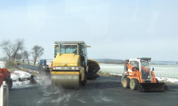 Příprava nového sjezdu na dálnici D11