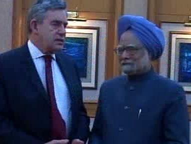 Gordon Brown a Manmóhan Singh
